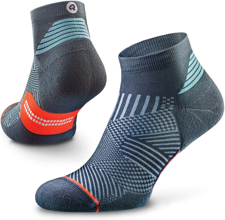 Acolchonados ROCKAY Flare Calcetines de Correr para Hombres y Mujeres Soporte de Arco Plantar Anti-Olor 100/% Reciclados Cortos 1 Par