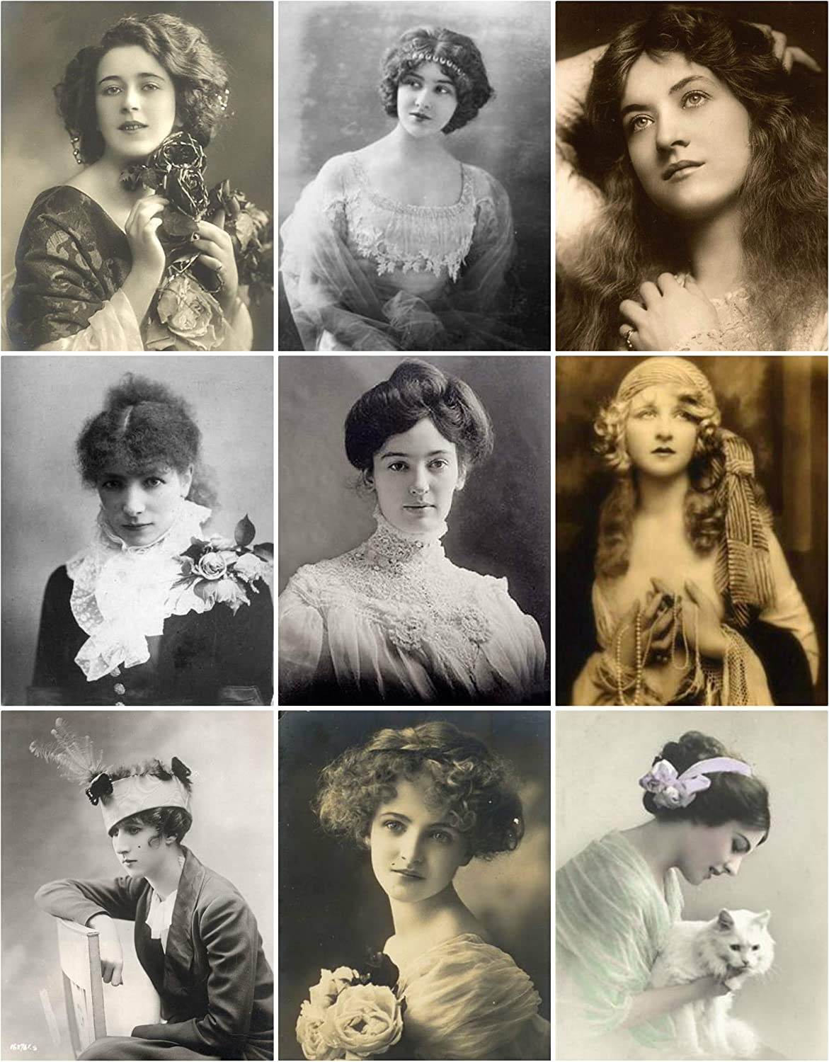 Vintage Women Photo Collage #106 Collage Sheet