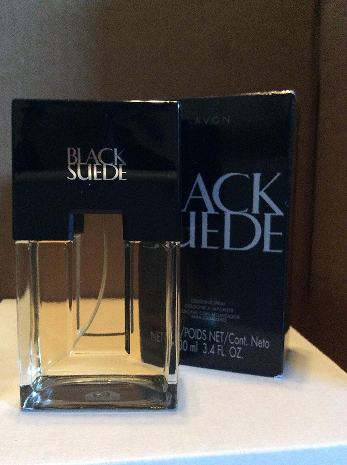 Black Suede For Men by Avon Eau de Toilette Spray 3.4 oz