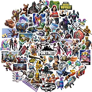 Pinkol 100 Pcs Gaming Stickers Vinyl Laptop Sticker Decals for Kids Teens Car Motorcycle Bicycle Skateboard Luggage Decal Graffiti Scrapbook StickersGaming Party Favors (kit 1)