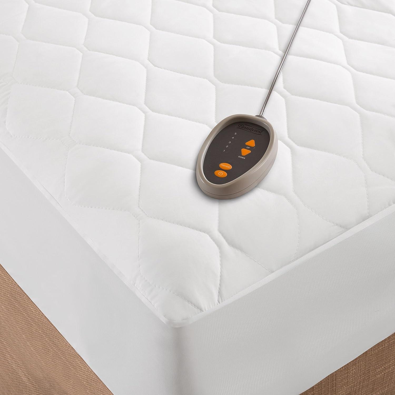 Amazon Beautyrest Cotton Blend Heated Mattress Pad White Twin