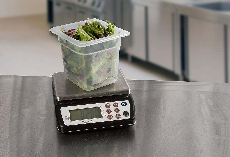 San Jamar SCDG33WD Digital Waterproof Food//Kitchen Scale with Memory Recall 33 lb Capacity Stainless Steel