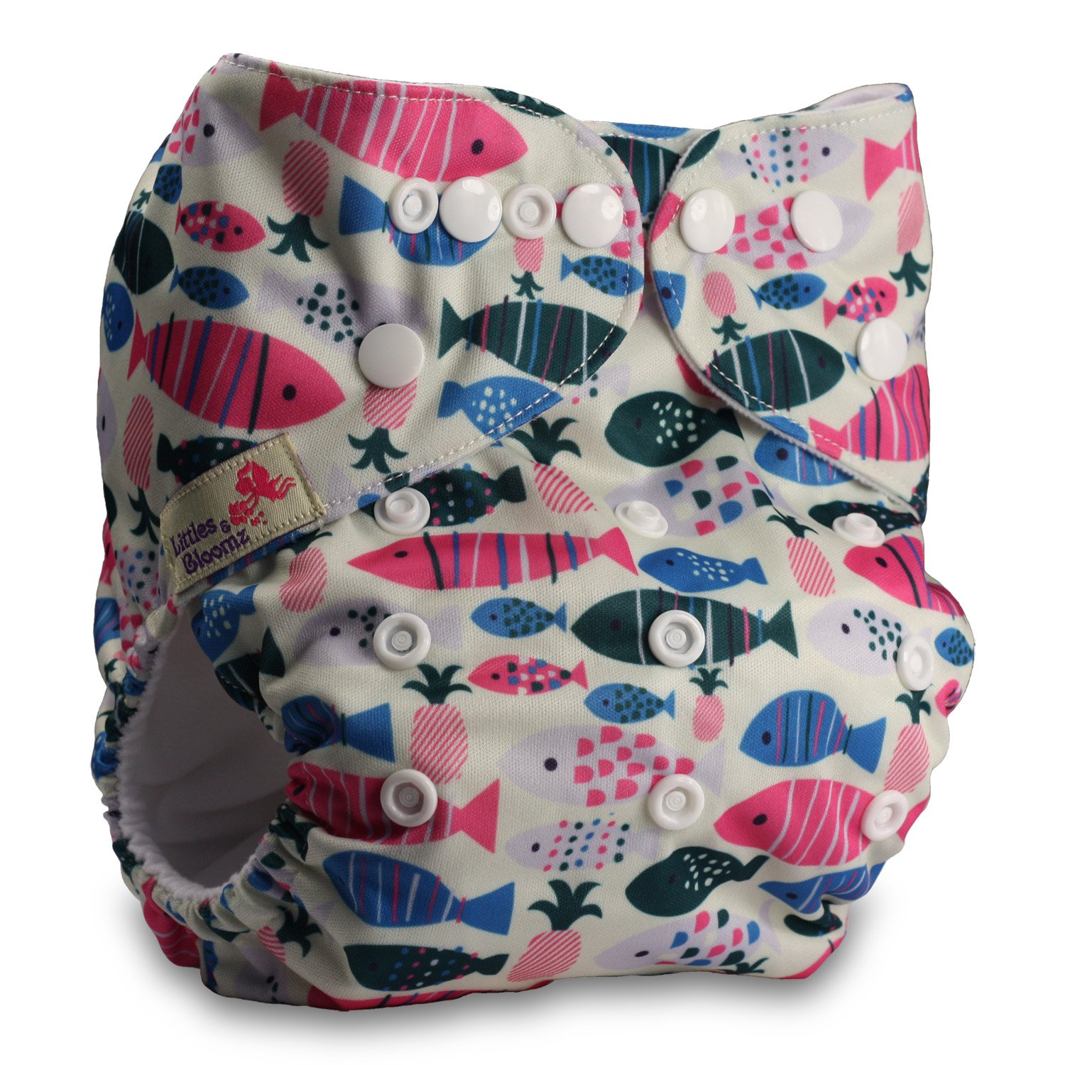 Patterns 501 Reusable Pocket Cloth Nappy Littles /& Bloomz Fastener: Popper with 10 Bamboo Charcoal Inserts Set of 5
