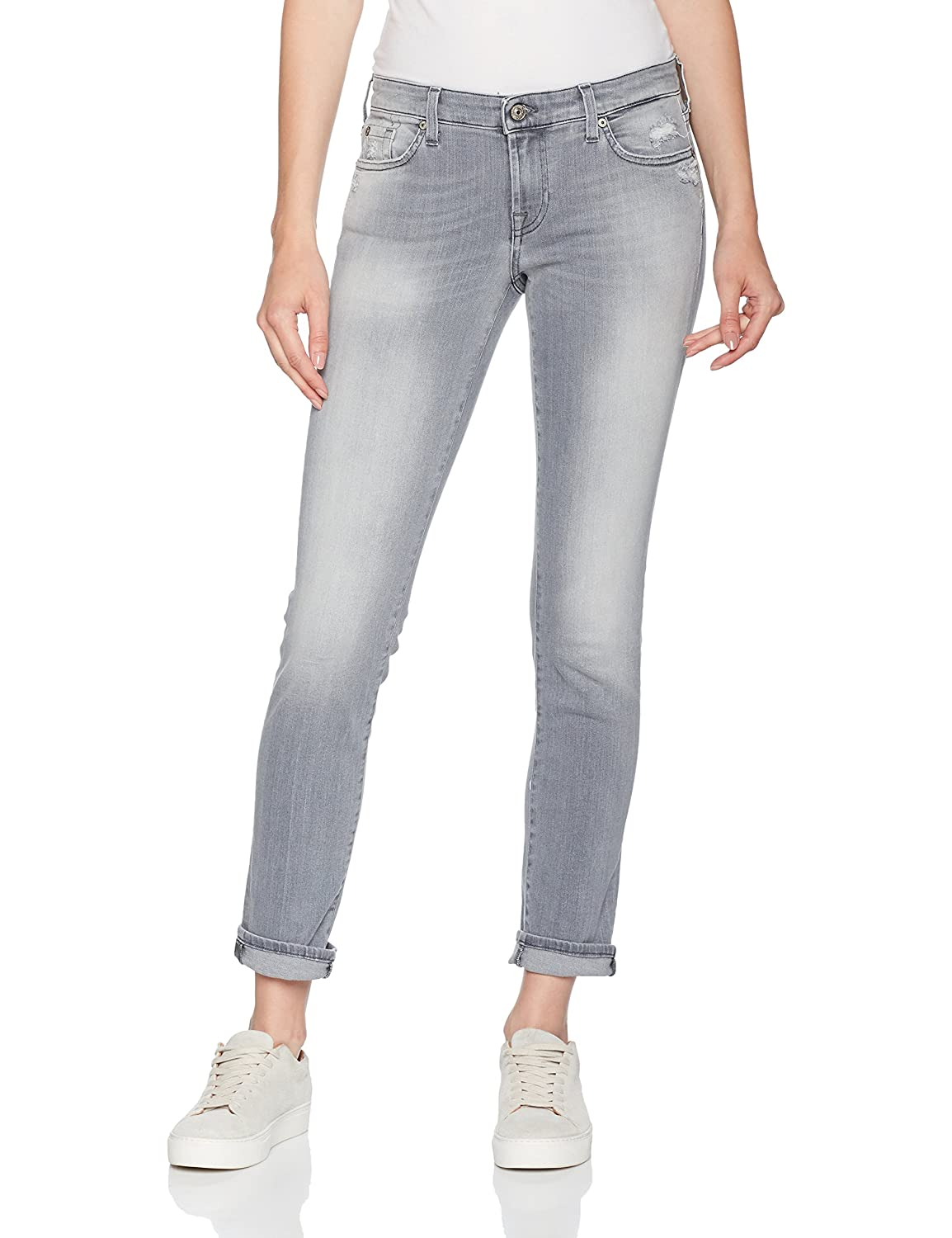 TALLA 25W / 30L. 7 For All Mankind Pyper Vaqueros Slim para Mujer