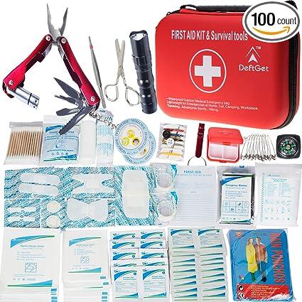 Amazon.com: DeftGet Kit de primeros auxilios compacto – Mini ...