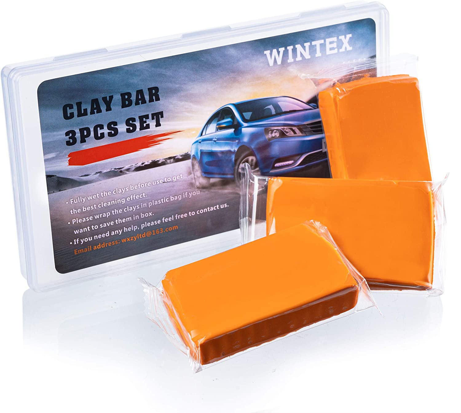 Magic Clay Bar Supplies Washing and Adsorption Capacity for Cleaning Cars Boats and Bus RV ATV WINTEX Car Clay Bar 3 Pack 100g Auto Detailing Clay Bar Premium Car Wash Cleaner with Storge Case