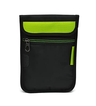 Saco Durable Pouch Soft Sleeve Carrying Bag Case with Shoulder Strap for All 7 inch Tablet   Green