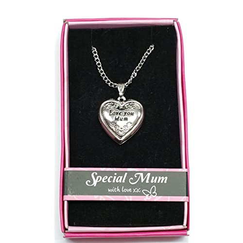 Love You Mum Locket Gift Boxed Pendant Mothers Day Birthday Christmas
