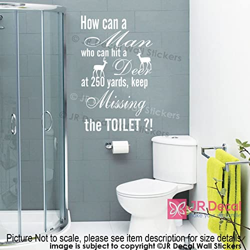 Funny Toilet Sign Removable Vinyl Wall Stickers Funny Quotes Wall Decals Decor Amazon Co Uk Handmade