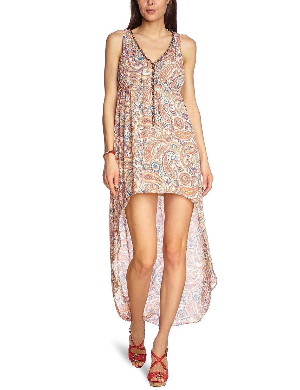 Pepe Jeans Damen Kleid Microfaser Dress Gemustert, Größe: S, Farbe: Mehrfarbig