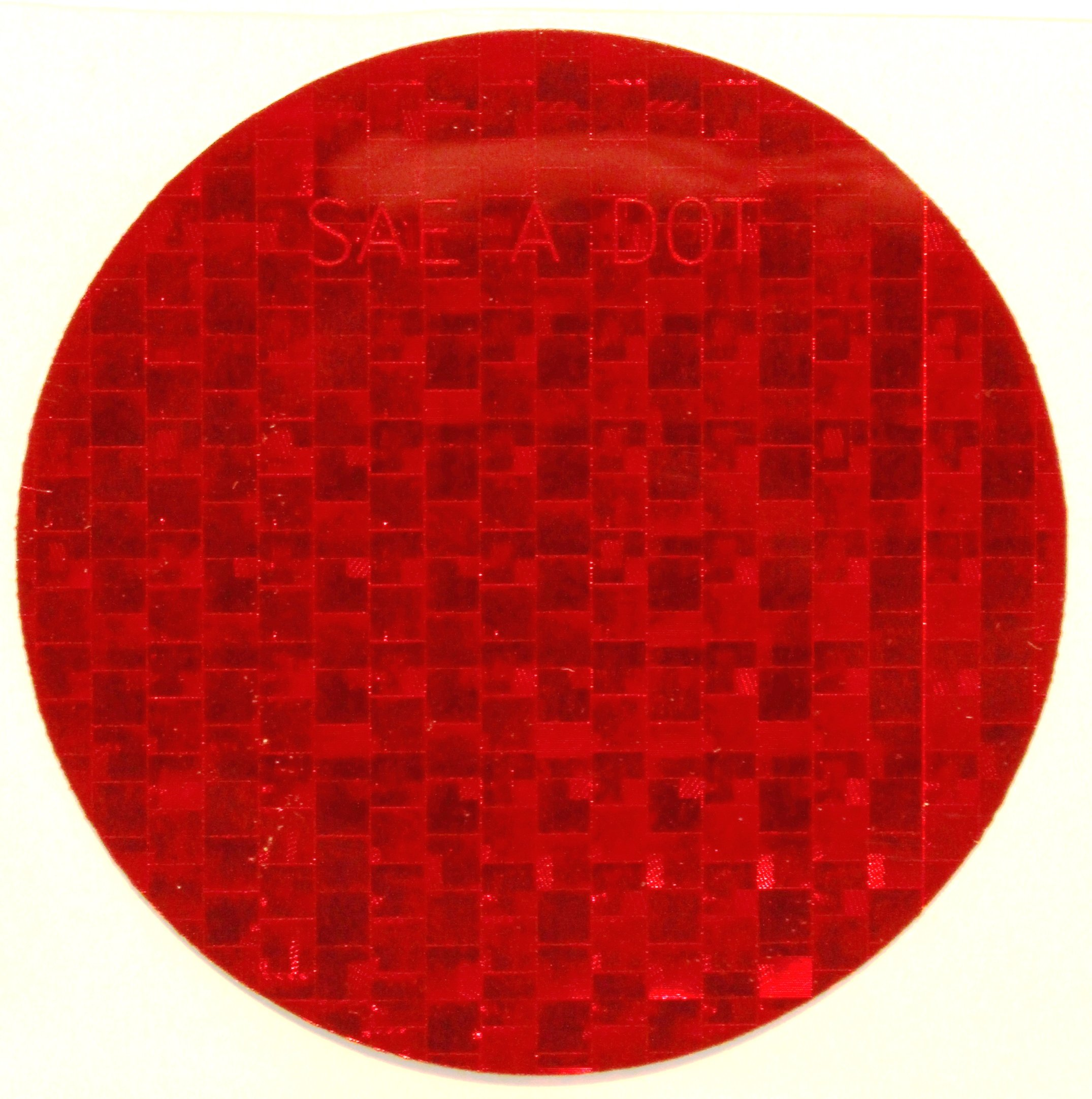 ifloortape DOT SAE Red Circle 3 Inch High Visibility Reflective Stick on Reflector, 50 per Roll by Reflex Reflective
