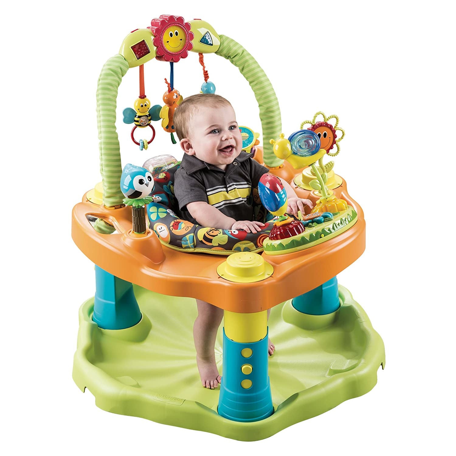 Evenflo ExerSaucer for Baby Double Fun Saucer, Bumbly
