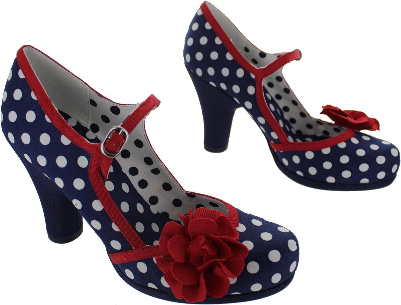 a5717d022c6f0 Ruby Shoo Damen Schuhe Hannah Punkte Rosen Pumps