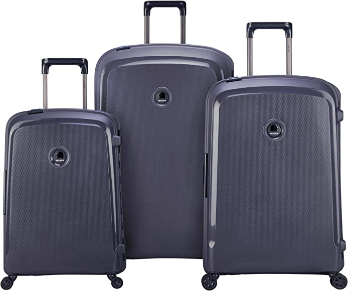 One Size Anthracite DELSEY Paris Delsey Belfort DLX 3 Piece Luggage Set