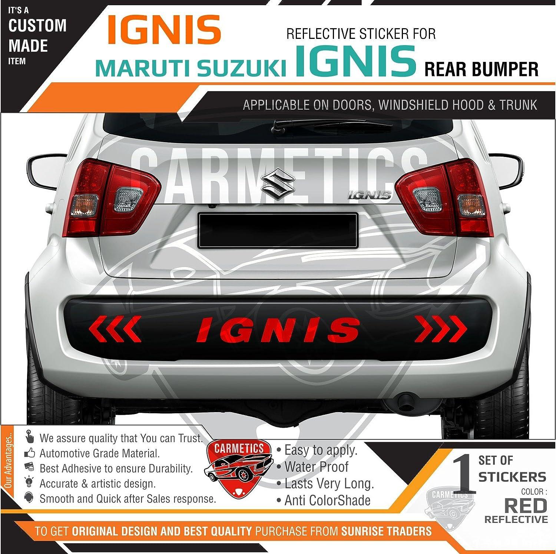 Carmetics ignis bumper sticker for suzuki ignis red amazon in car motorbike