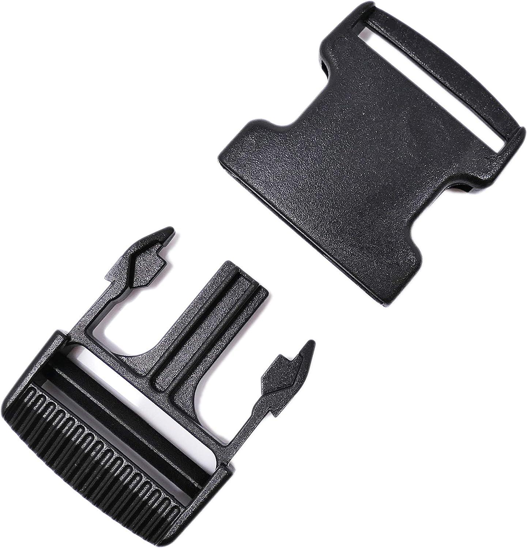 The Bead Shop Fibbia in plastica a sgancio laterale per bagagli cinghia 38mm - 2 pack zaino