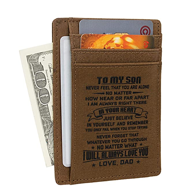 Men Wallet | Wife to Husband Gift | Dad Son Birthday Christmas Anniversary  Gifts