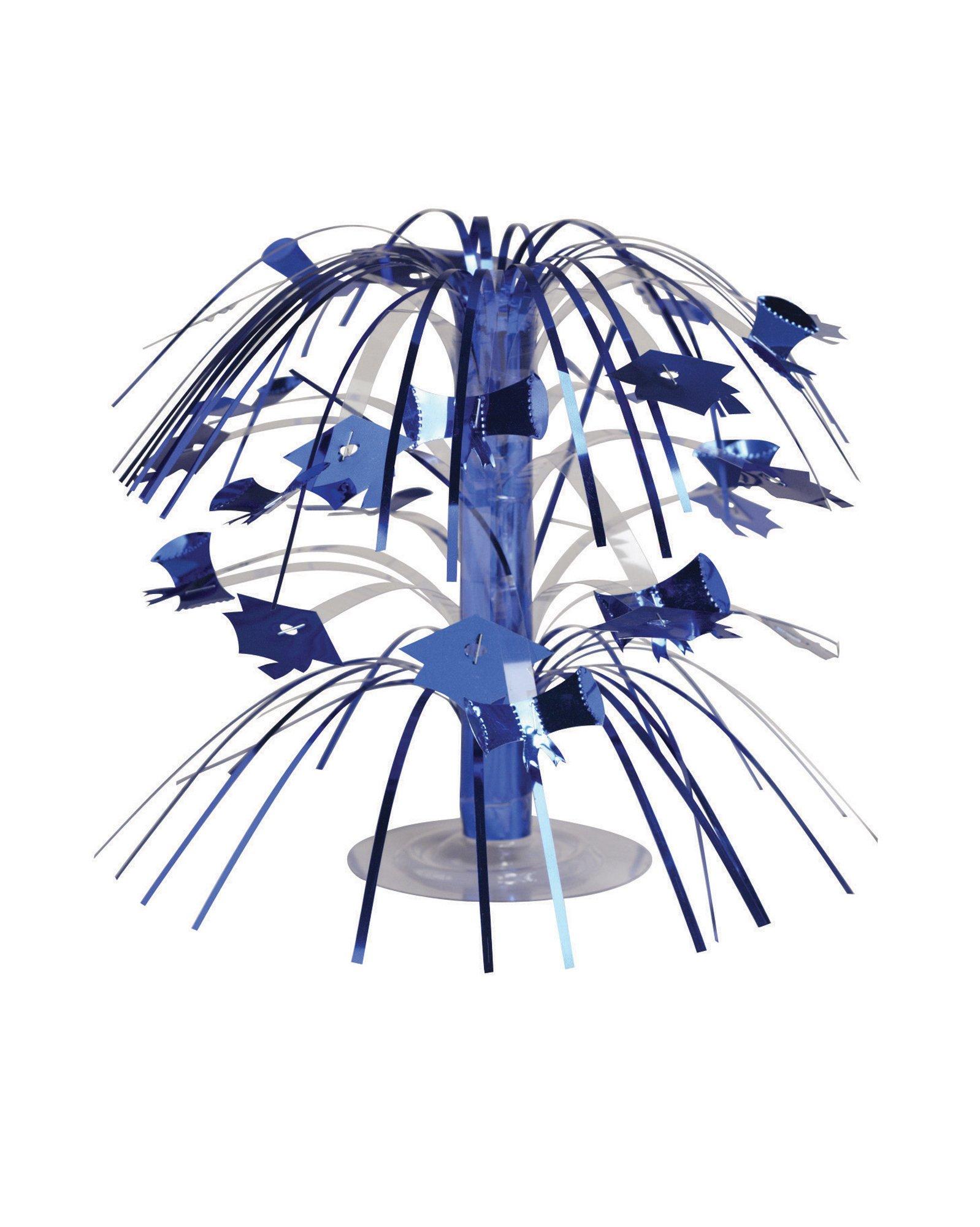 Creative Converting Cascade Graduation Centerpiece, Mini, Blue