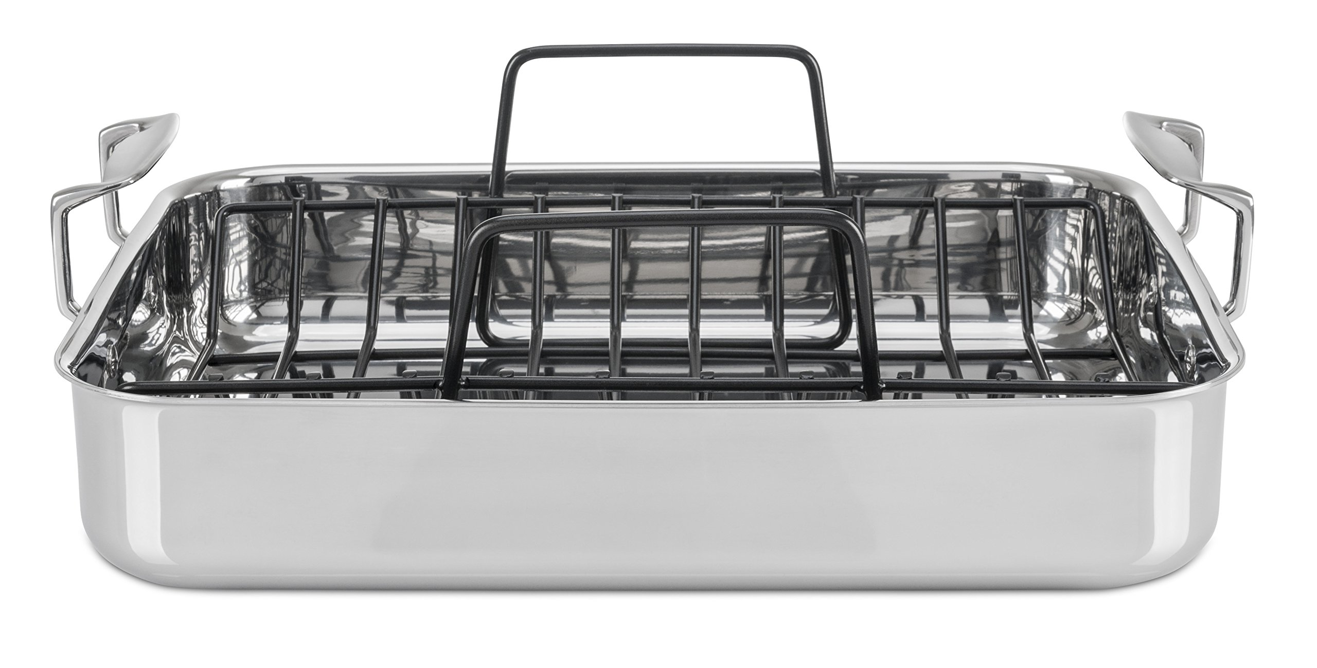 Viking 3-Ply Stainless Steel Roasting Pan with Nonstick Rack, 16 Inch by 13 Inch by Viking Culinary (Image #2)