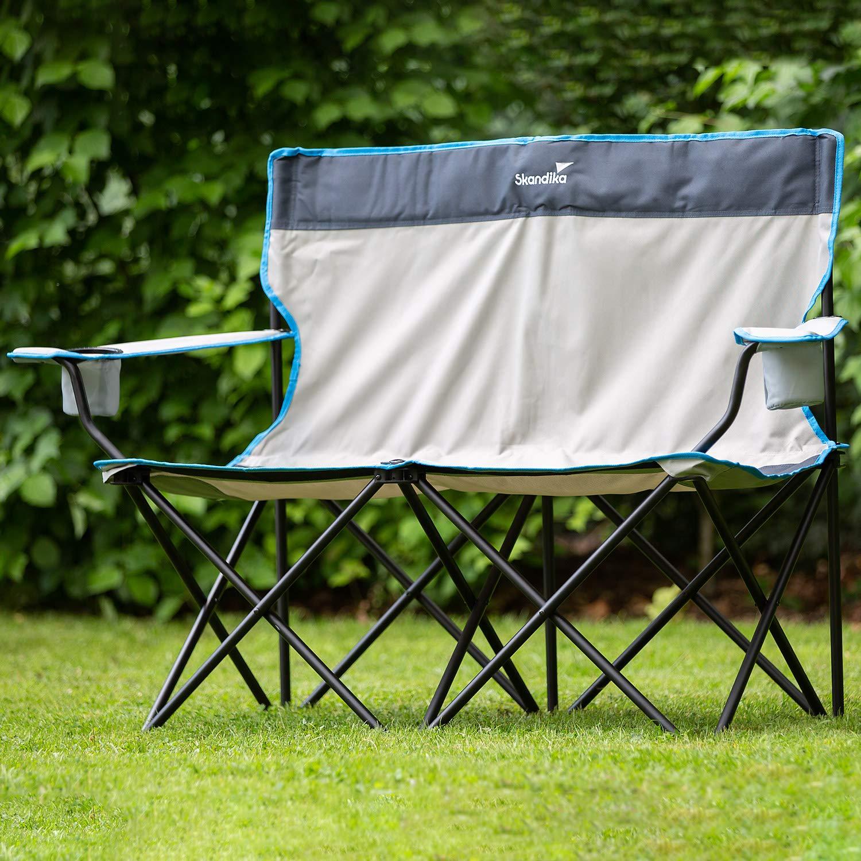 Getr/änkehalter und Tragetasche skandika Campingstuhl Single//Double Klappstuhl Faltstuhl bis 150//200 kg belastbar