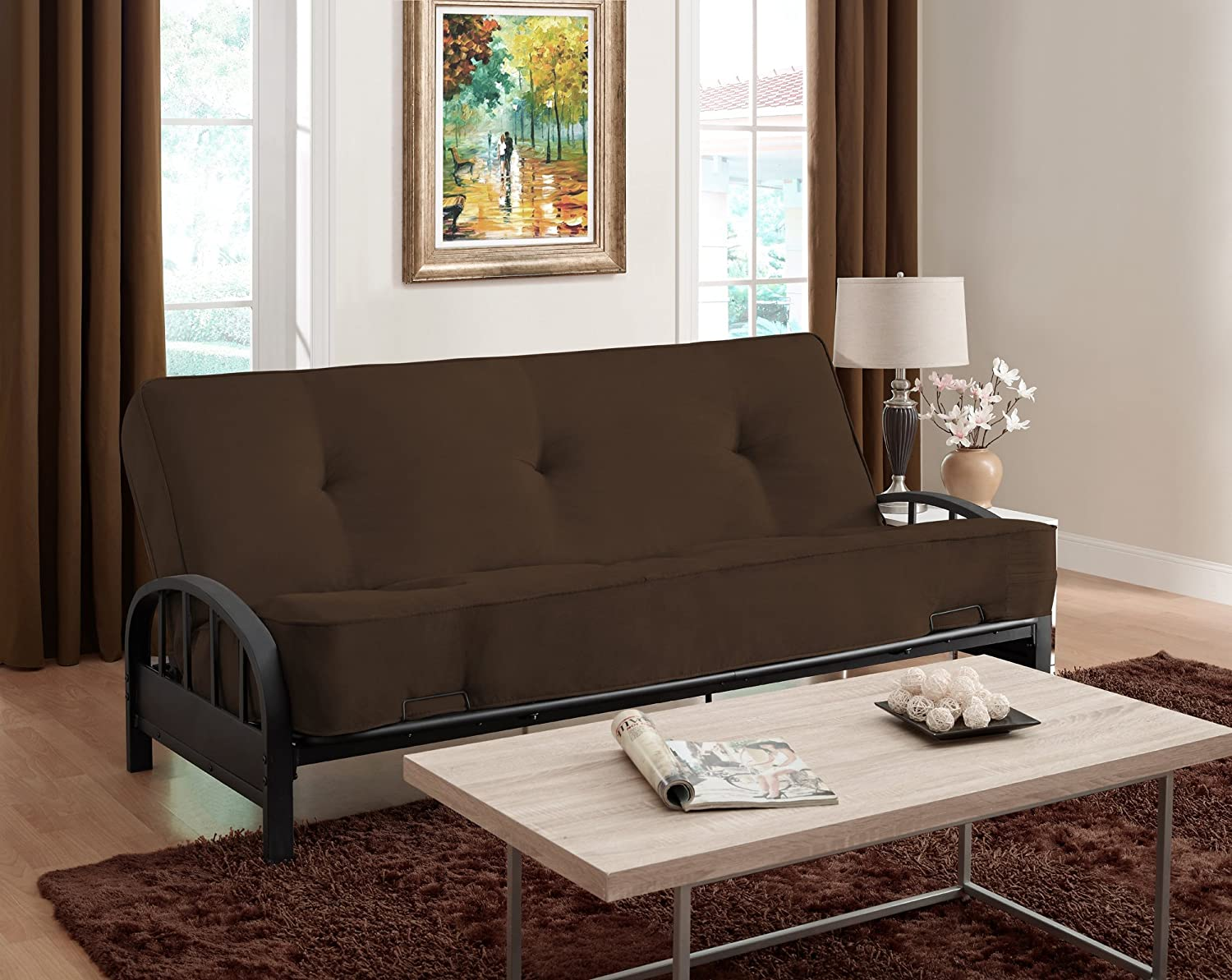 home tire assembly furnishings black frame dorel futons canadian vermont instructions metal futon