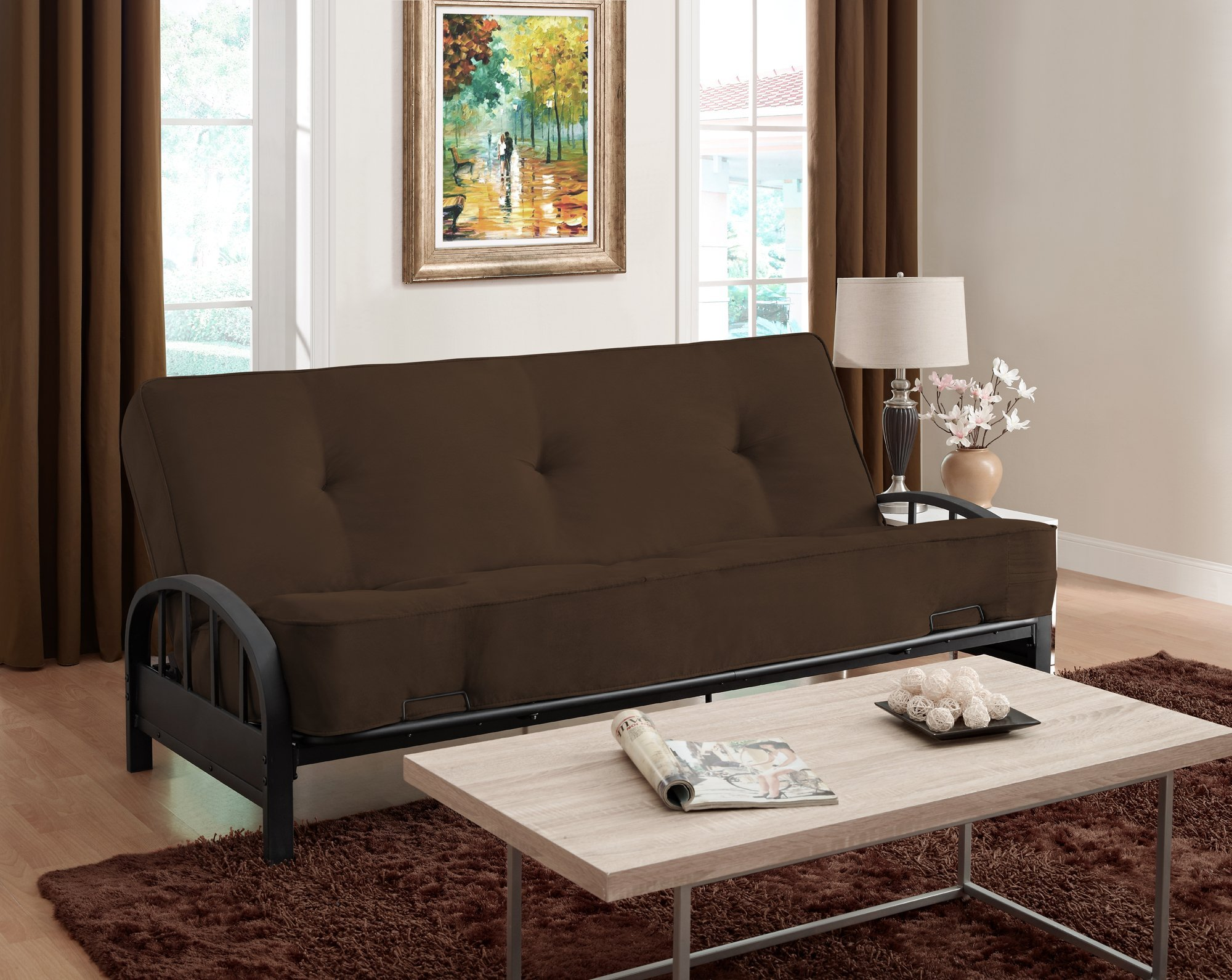 DHP Aiden Futon Metal Frame, Converts Easily to a Full- Size Bed, Black by DHP (Image #5)