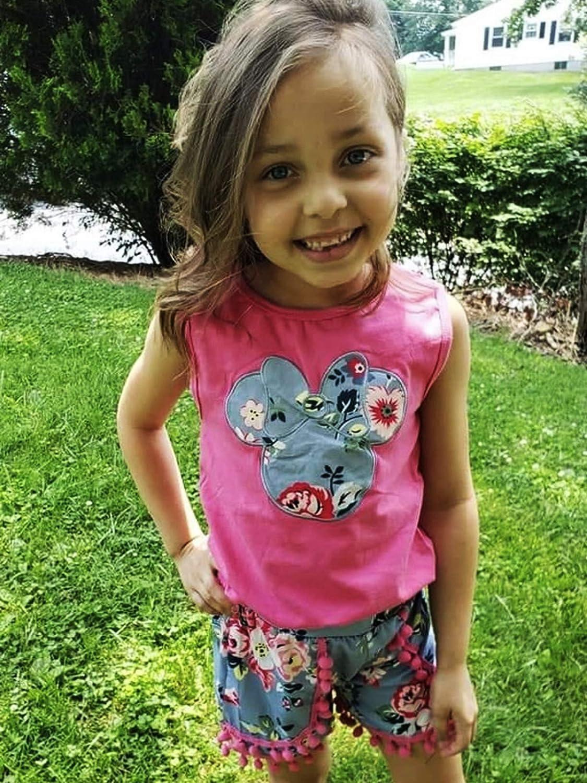 So Sydney Girls Toddler Pom Pom Novelty Summer Pool Beach Vacation Shorts Outfit