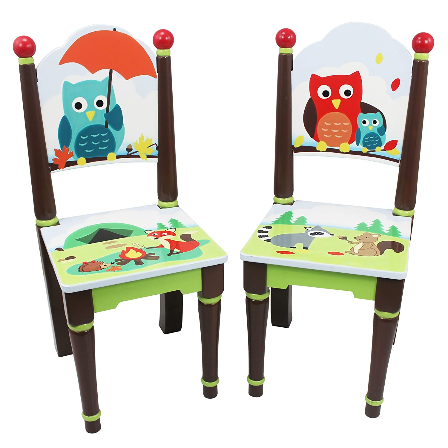 Fantasy Fields - Dinosaur Kingdom Thematic Kids Wooden 2 Chairs Set | Imagination Inspiring Hand Crafted & Hand Painted Details Non-Toxic, Lead Free Water-based Paint TD-0079A/2