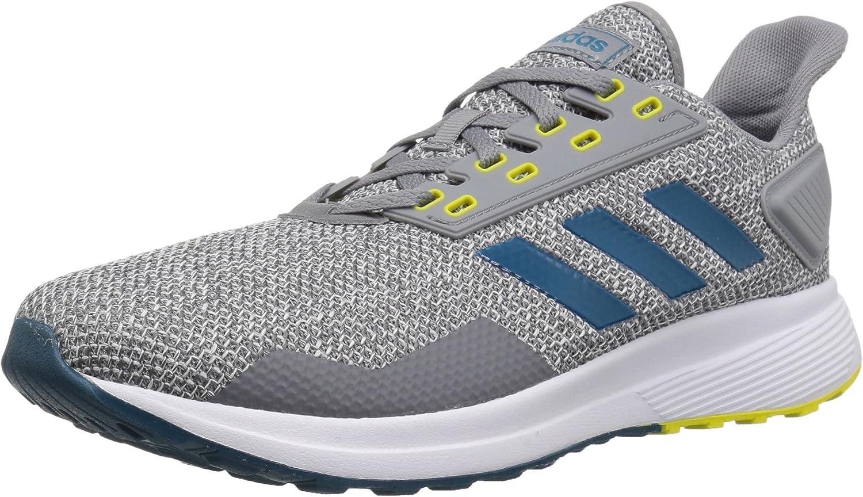 Zapatillas de running Adidas Duramo 9, para hombre, Gris (Gris/Verde azulado/Blanco), 42.5 EU