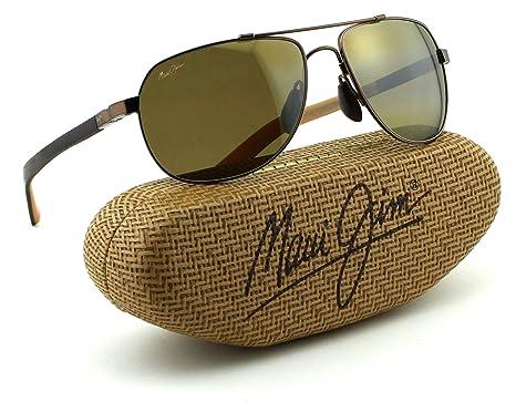 5d9438468f Maui Jim Guardrails Unisex Polarized Sunglasses (Metallic Gloss Copper  Frame