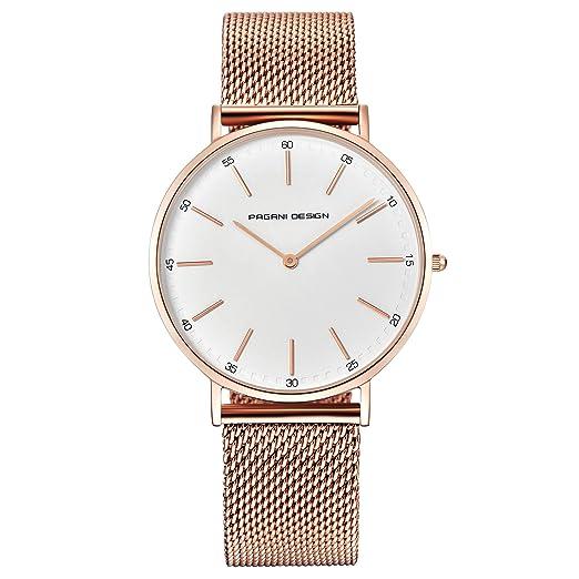 c3c159f5cf55 Pagani Design Lady Analog Quartz Stainless Steel Bracelet Waterproof Watch   Amazon.co.uk  Watches