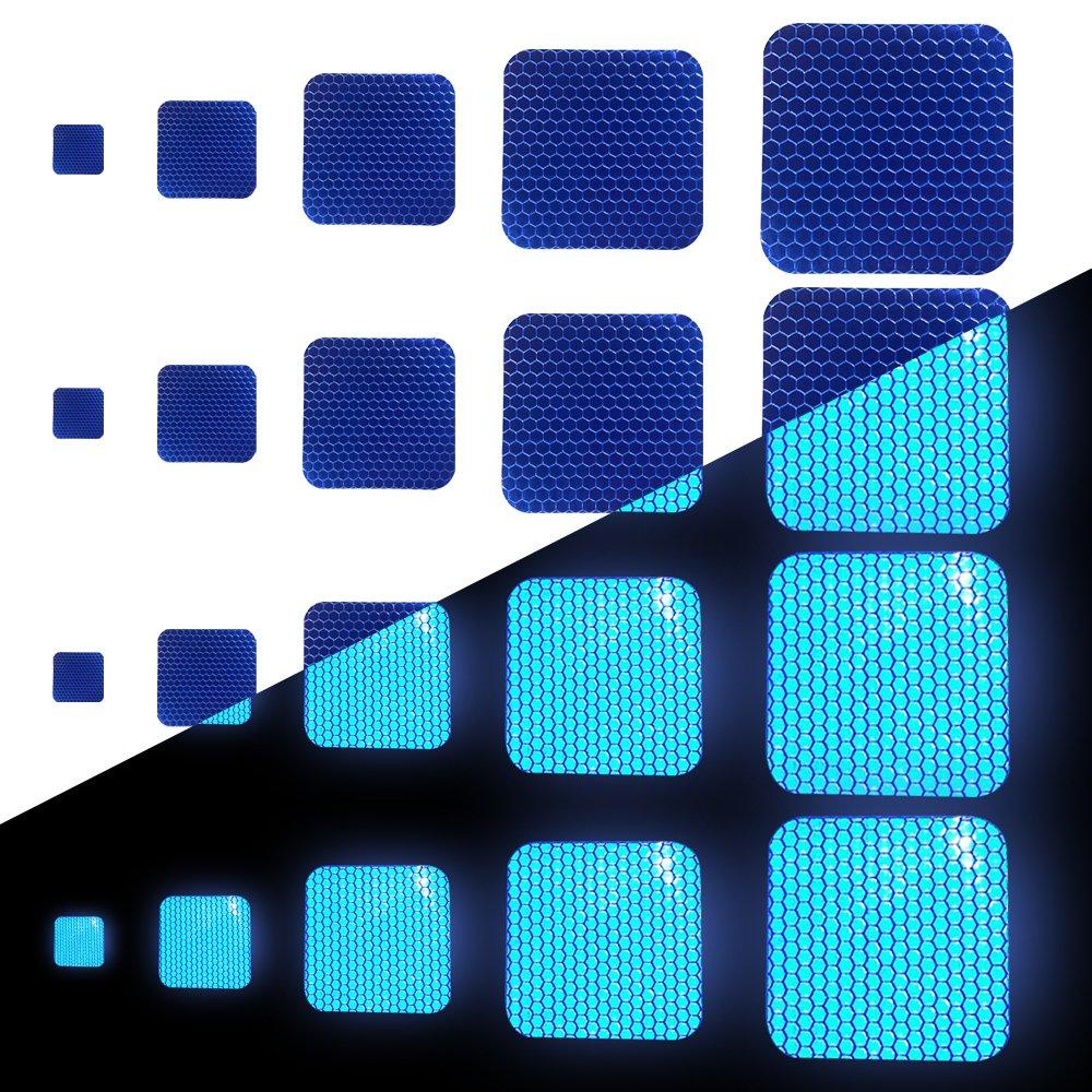 Tuqiang Forma Cuadrada Cinta Reflectante Impermeable Pegatina para Silla de Ruedas Bast/ón Calzado Alta Visibilidad Cinta Adhesiva Reflectante 25 Piezas Amarillo