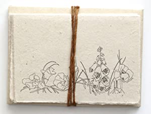 Handmade Seeded Plantable Note Cards with Envelopes Set of 6 Wildflowers