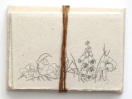 Handmade Seeded Plantable Note Cards Set of 6 Wildflowers