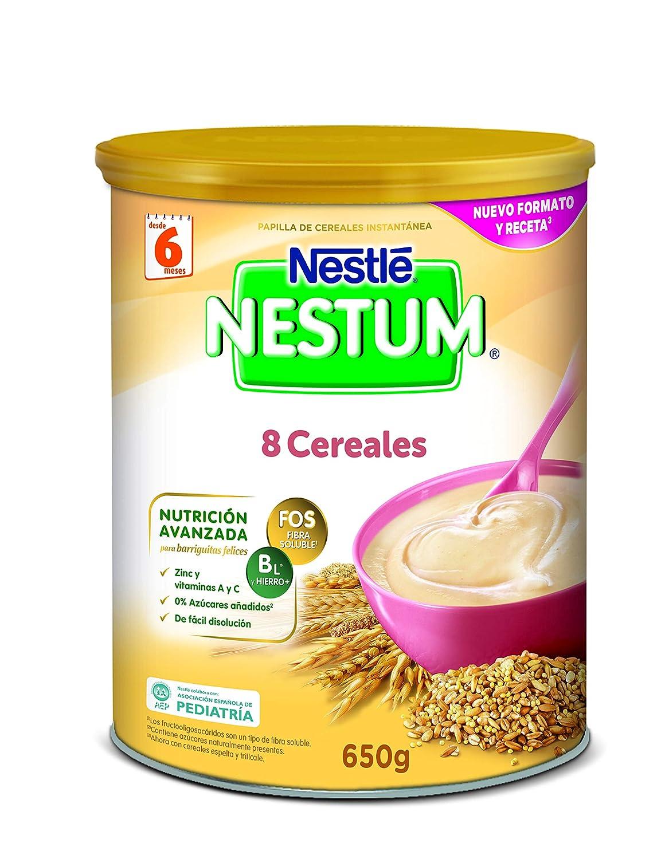 Nestlé Alimentos Infantiles Papillas NESTUM, Cereales para Bebé, 650 g: Amazon.es: Alimentación y bebidas