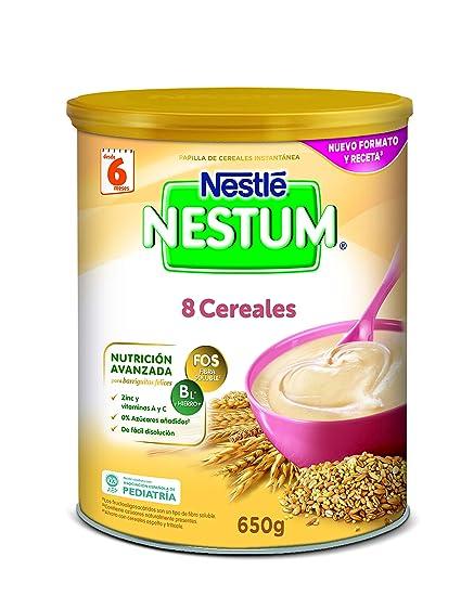 Nestlé Papillas NESTUM, Cereales para bebé, Pack de 3 x 650 gr, Total