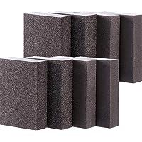 M-Aimee Sanding Sponge, Coarse Medium Fine Superfine Assortment Sanding Blocks, Washable and Reusable, 8 Pieces