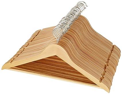 AmazonBasics - Perchas de madera para traje (30 unidades ...