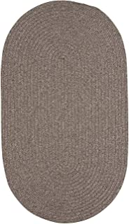 """product image for Candor Chestnut 11' 4"""" x 14' 4"""" Oval Braided Rug"""