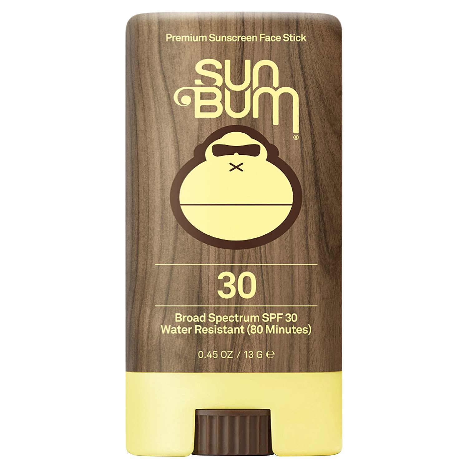 Sun Bum Premium Sunscreen Face Stick, SPF 30, 0.45 oz. Stick, 1 Count, Broad Spectrum UVA/UVB Protection, Paraben Free, Gluten Free, Oil Free 20-45030