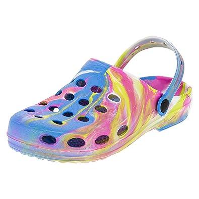 Damen Clogs Garten Schuhe Freizeit Pantoffel Strand Pool in Vielen Farben M194li Lila 39 3ufIYoh3EK