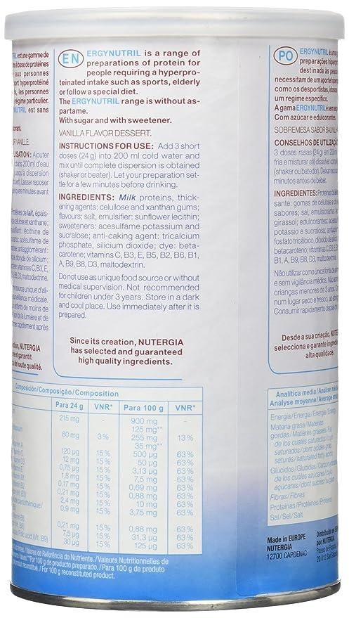 Nutergia Ergynutril Vainilla Complemento Alimenticio - 350 gr: Amazon.es: Salud y cuidado personal