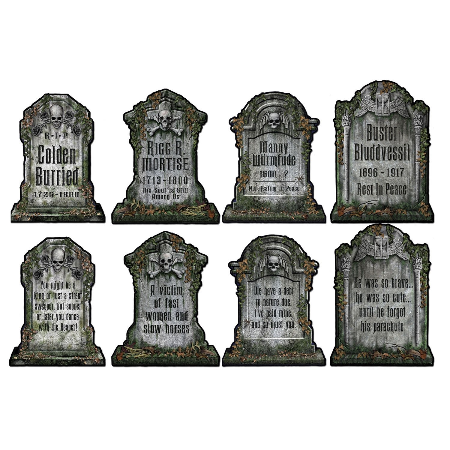 Amazon.com: Beistle 01516 Packaged Tombstone Cutouts, Includes 4 ...