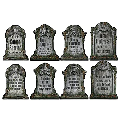 image relating to Tombstone Printable known as Beistle 01516 Packaged Tombstone Cutouts, Incorporates 4 Cutouts, 15 Inches