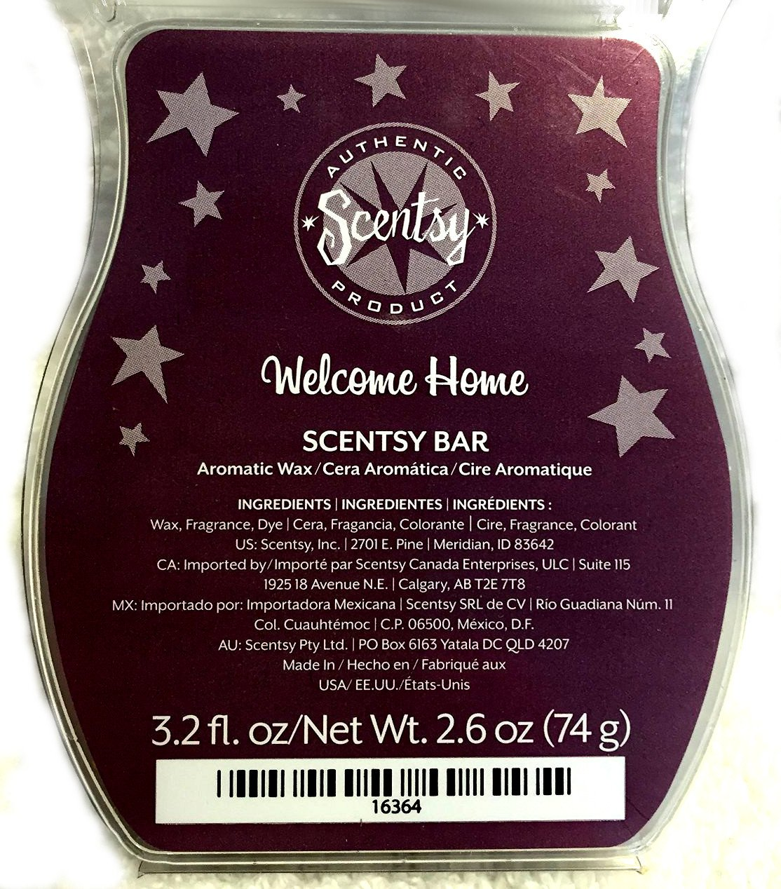 Scentsy Scented Wax, WELCOME HOME