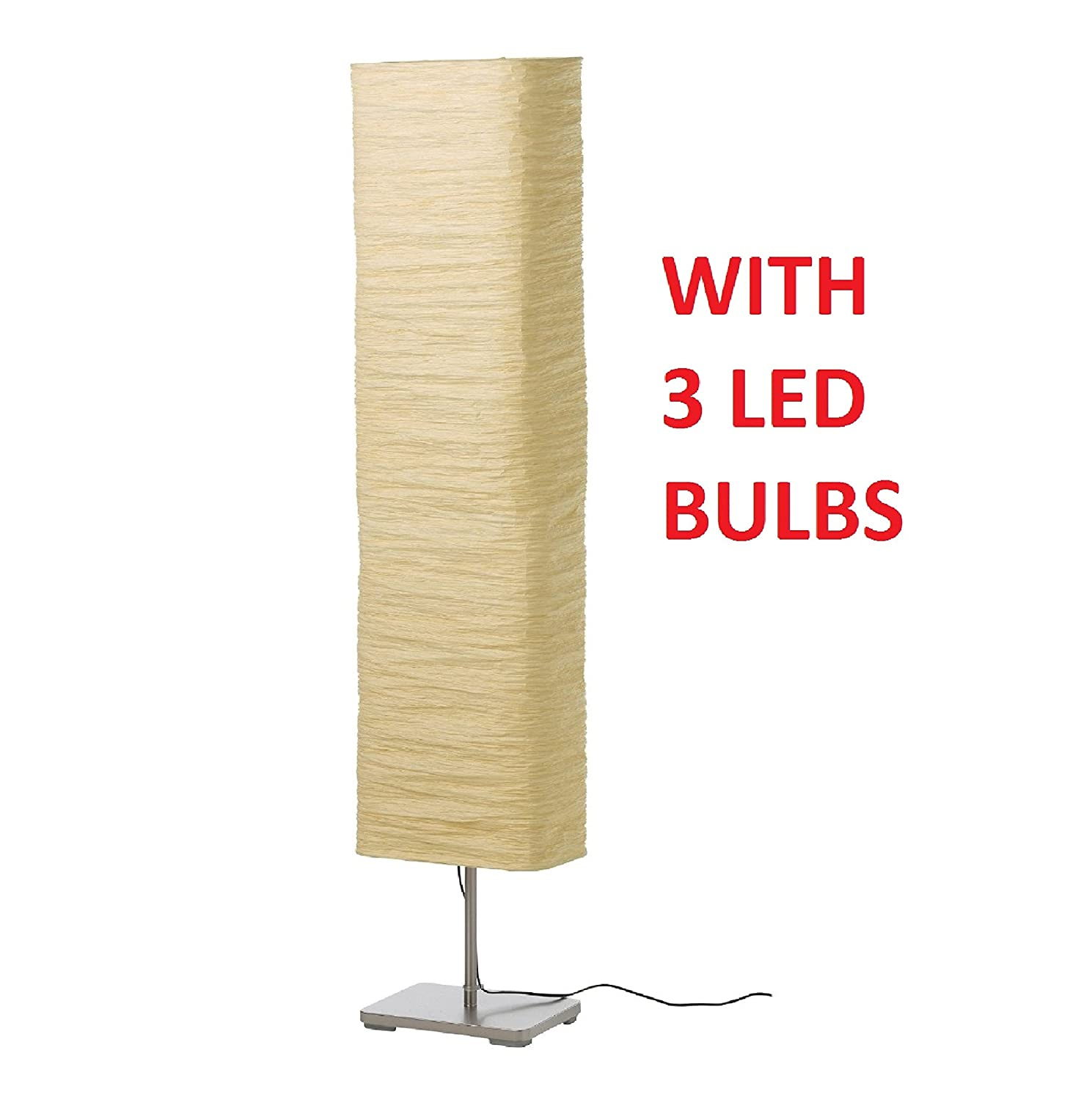 Amazon.com: Ikea 302.322.25 Magnarp Floor Lamp, Natural: Home ...