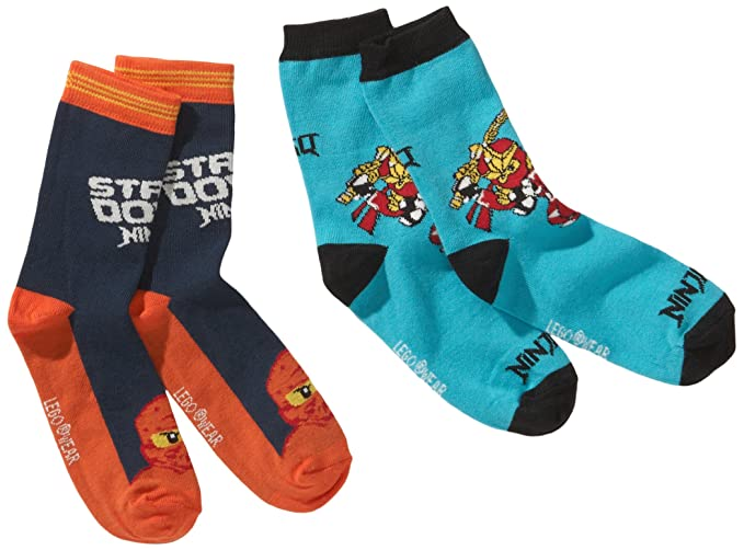 LEGO Wear - Calcetines para niño, pack de 2, talla 25, color turquesa