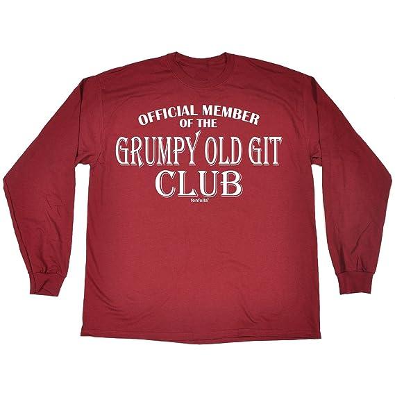 123t Men's OFFICIAL MEMBER ... GRUMPY OLD GIT CLUB LONG SLEEVE T SHIRT:  Amazon.co.uk: Clothing