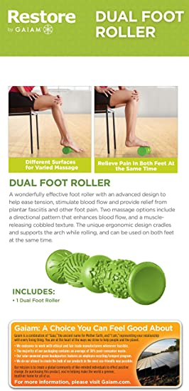 NEUF Gaiam Restore double texture pied Rouleau