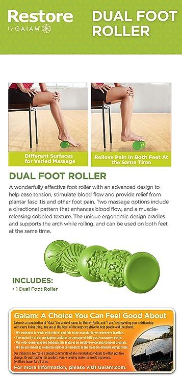 Amazon.com: Gaiam Restore, rodillos para masaje de pies ...